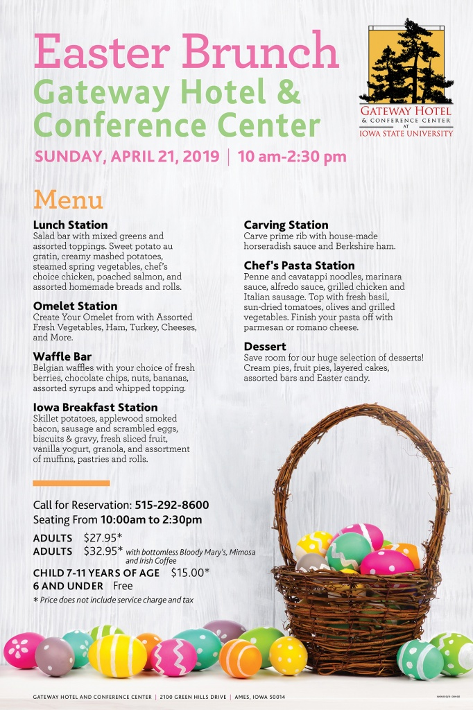 GWH-053 24X36 EASTER POSTER 2019